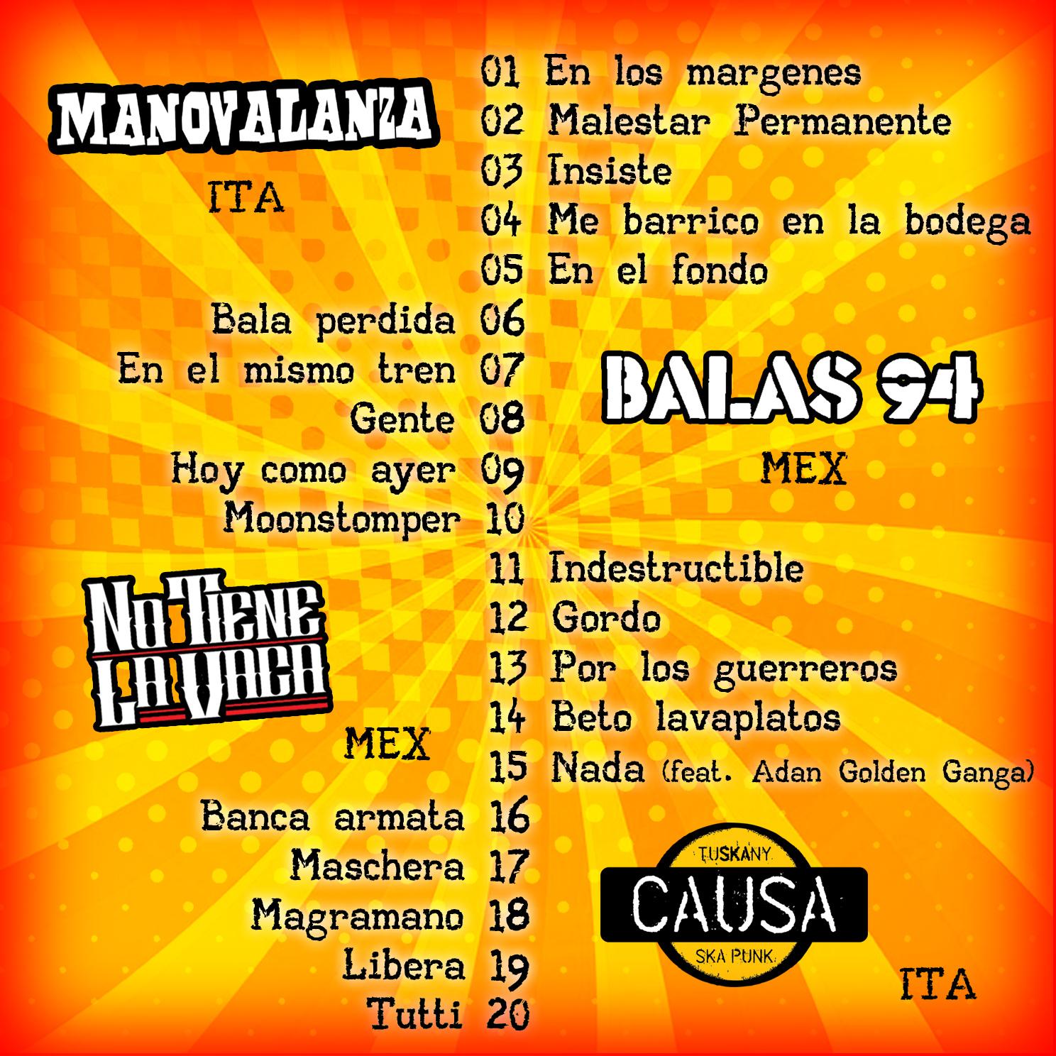 Boleto Redondo Setlist